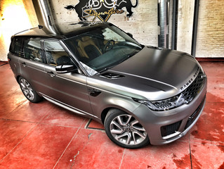Range Rover Sport P400e Autobiography - Satin Silky Charcoal Carwrap