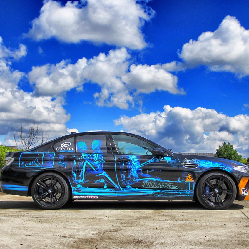 BMW M5 Skull Carwrap Streetgasm