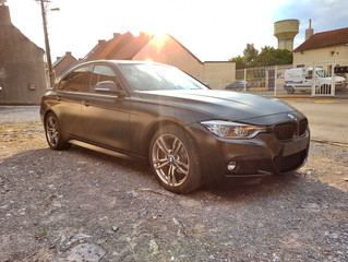 BMW 3 Satin Black Wrap