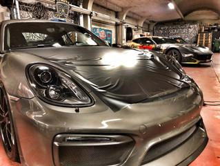 Porsche Cayman GT4 - Satin Silky Black wrap