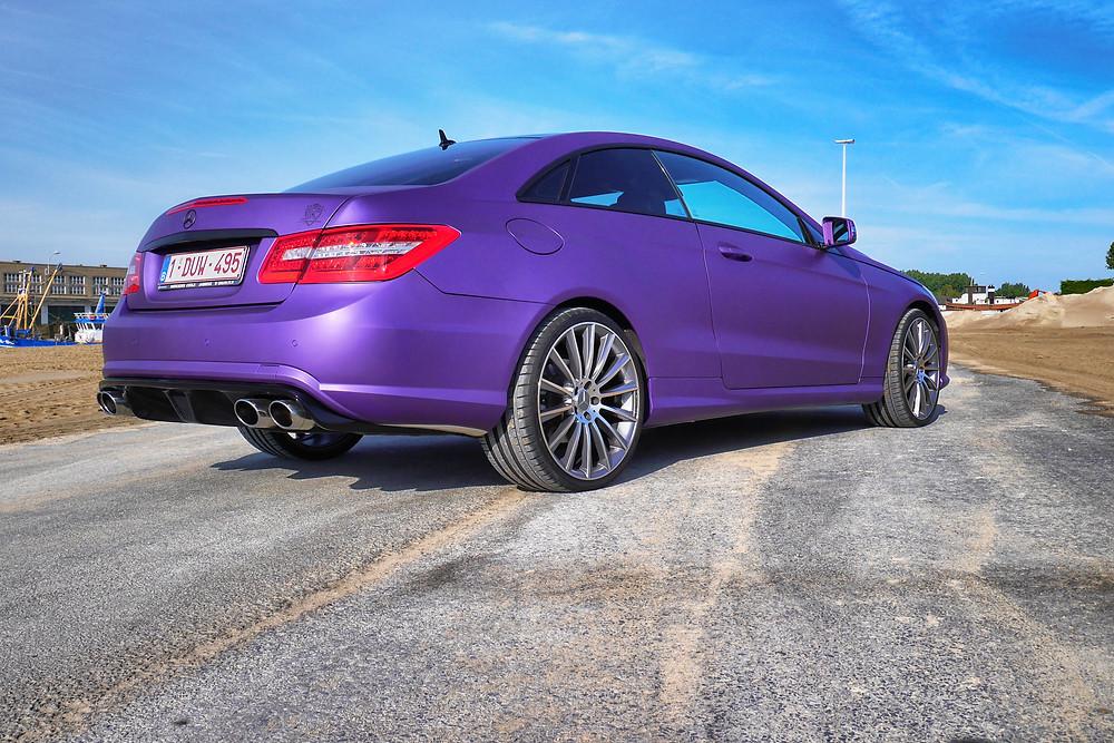 Mercedes E Coupé Purple Matte Metallic