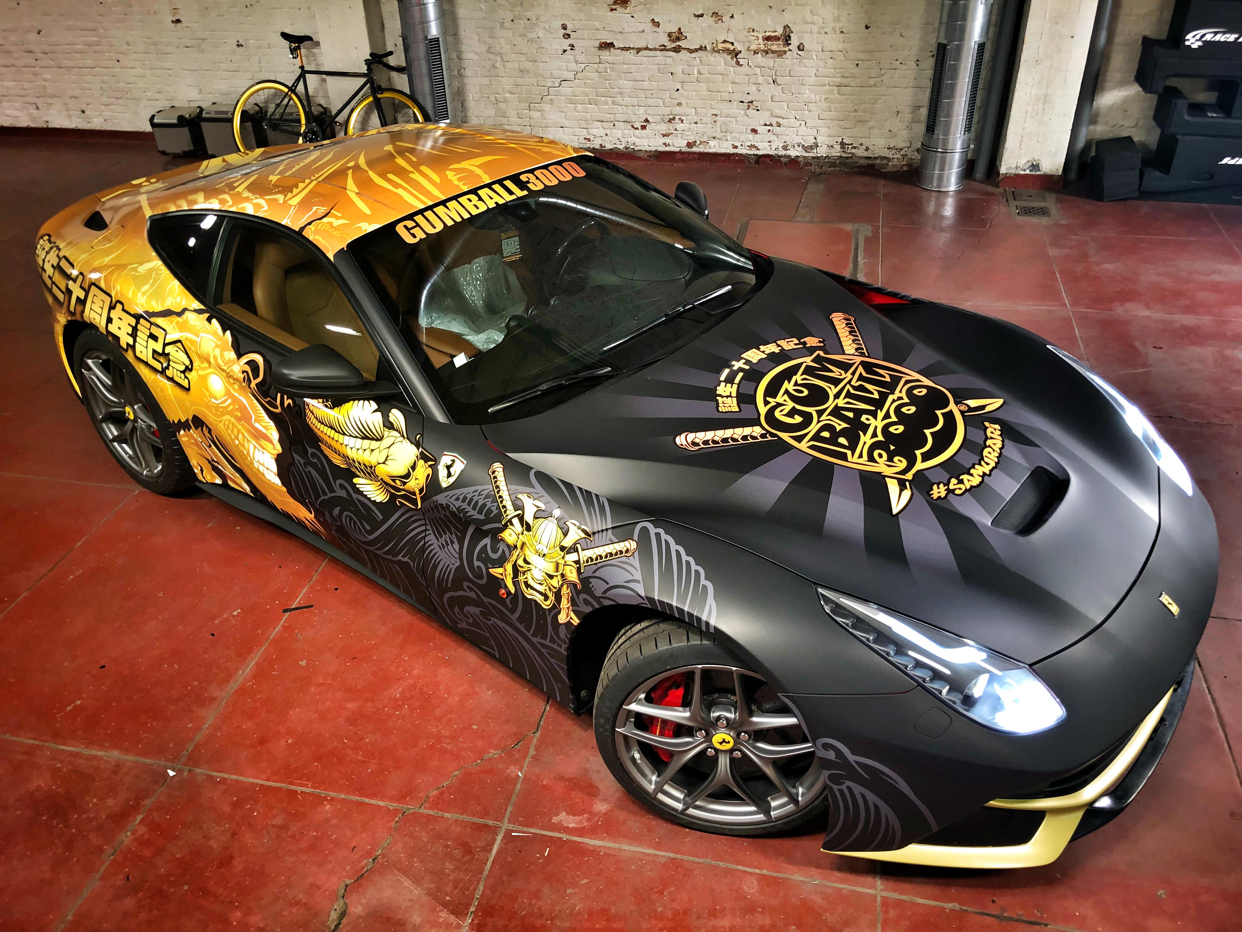 FerrariF12Gumball3000Carwrap