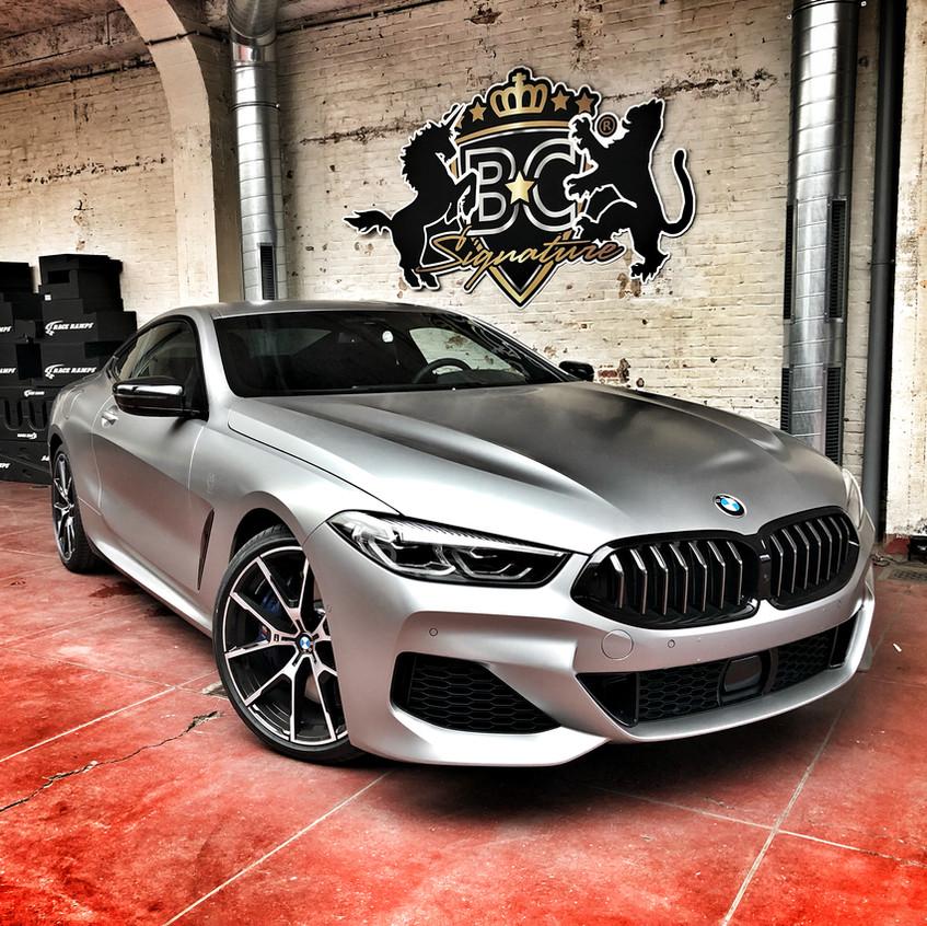 BMW 8 Series Wrap Satin Grey