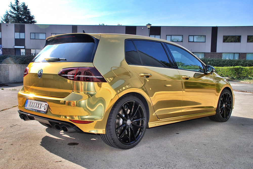 Avery Conform Gold Chrome carwrap Golf