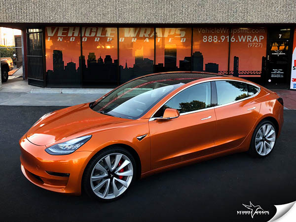 Tesla Model 3 Car Wrap