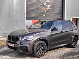 BMW X5 - Satin Pearl Nero Carwrap