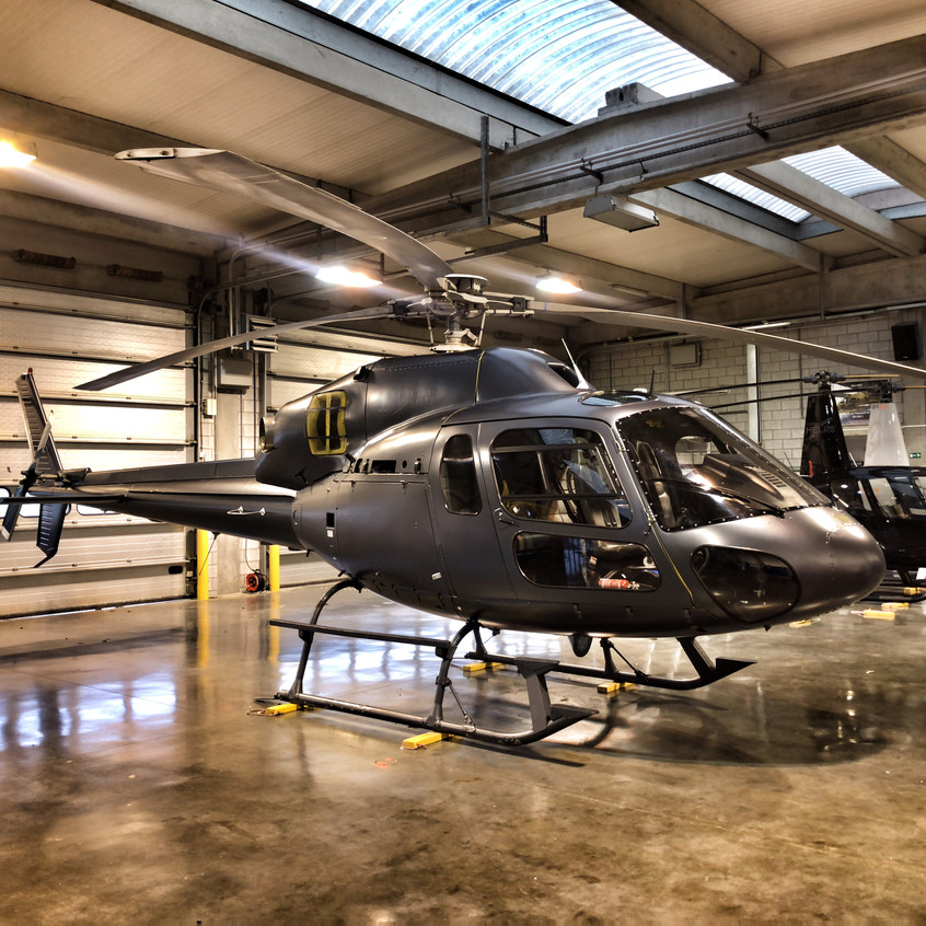 Helicopter wrap AS355 Graphite Satin