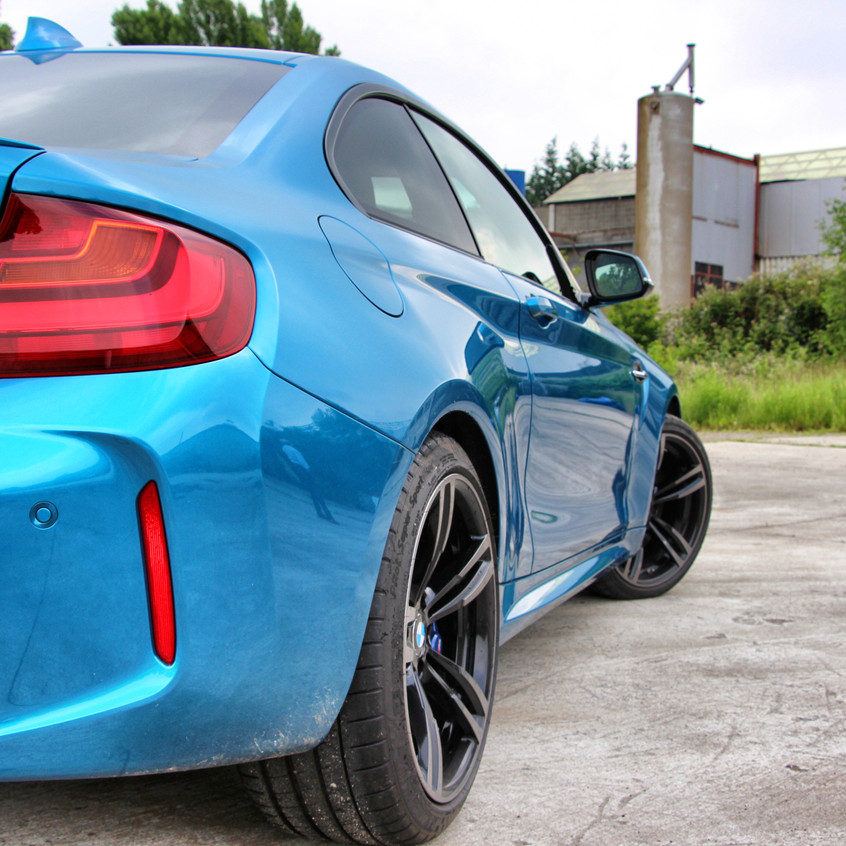 BMW M2 Long Beach Blue Paint Protect