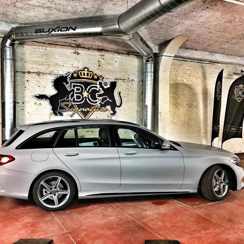 Mercedes C-klasse Satin grey wrap