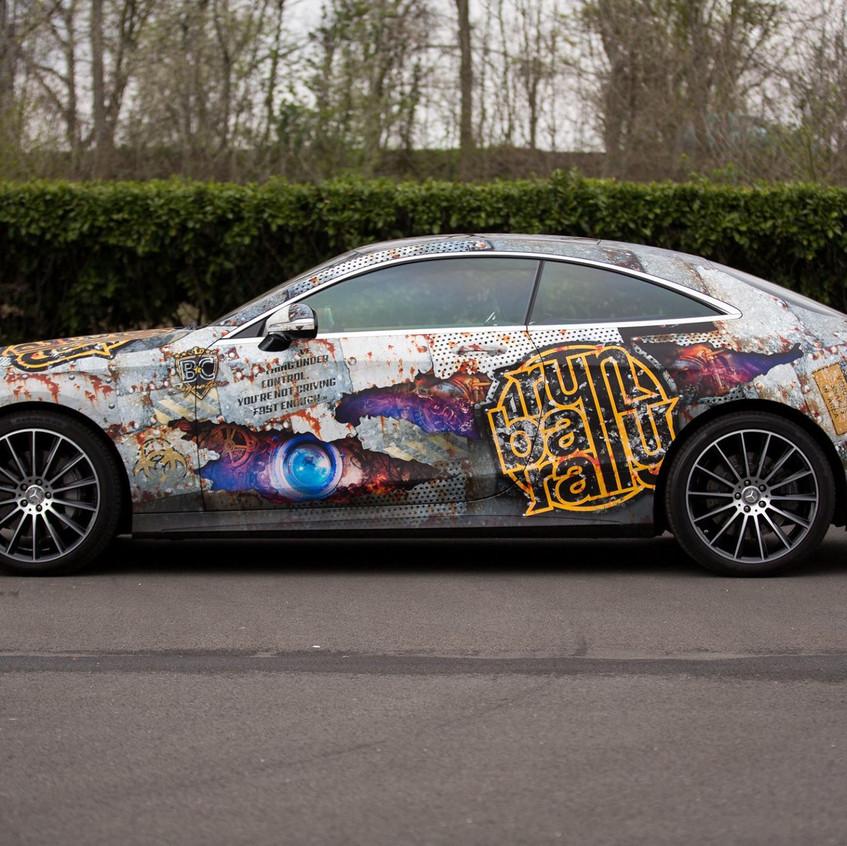Mercedes S-klasse carwrap