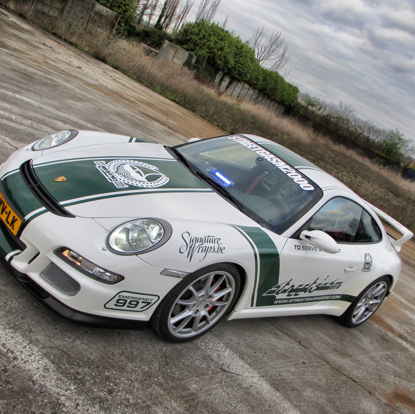 Porsche Dubai Police Carwrap