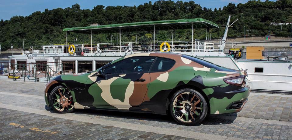 Maserati GT Camo wrap