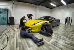 Ferrari 458 Challenge carwrap yellow