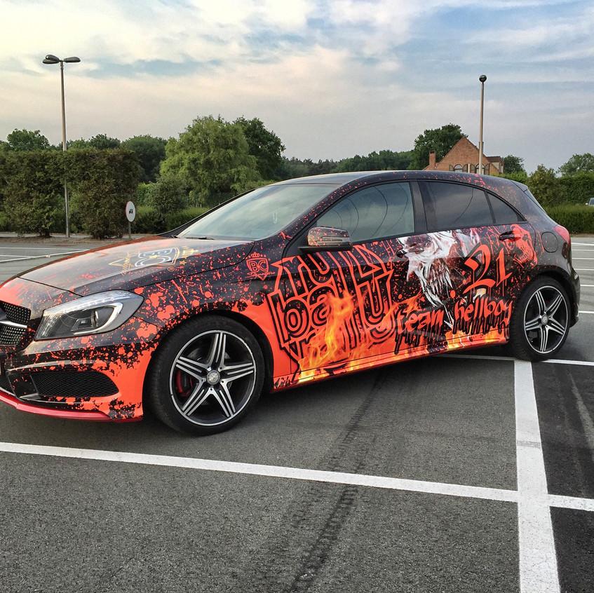 Mercedes A AMG Runball Carwrap