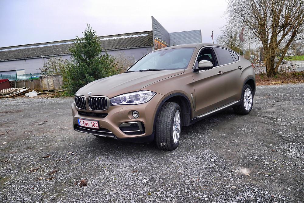 BMW X6 Frozen Bronze Carwrap