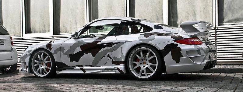 Porsche Snow Camo
