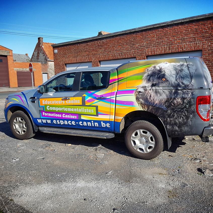 Ford Ranger Espace Canin reclamewrap