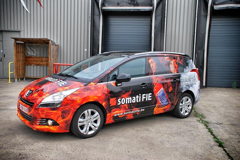 Peugeot 5008 Somati Fie Reclame wrap