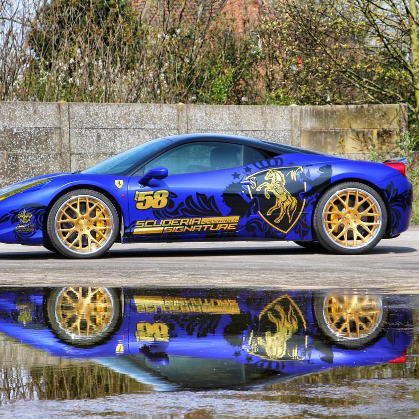 Ferrari 458 Runball Streetgasm wrap