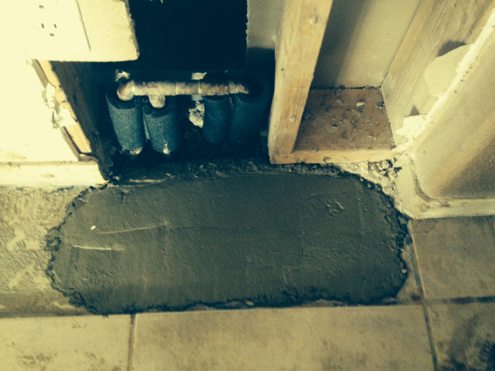 After - Slab Leak Repair