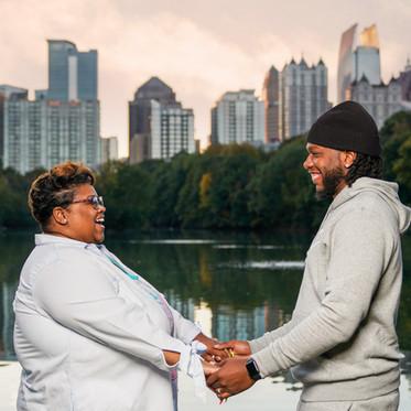 Casual Anniversary Session in Piedmont Park | Atlanta Photography |  Jadarius + Shan
