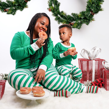 Christmas Mini Session | Mom & Son Matching PJs