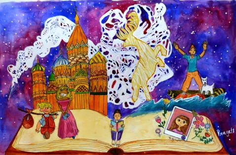 Pragathi M Age_ 9  Books are a Uniquely