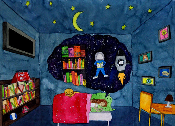Shruti N Age_ 11  My Aspiration Size_ 48.5 x 36 cm Medium_ Watercolour on Paper