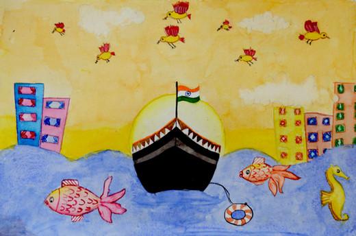 Anika Sajit Age_ 7 A View From a Sea Siz