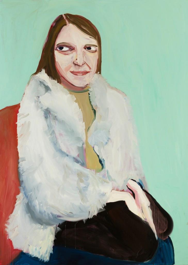 Chantal Joffe  - Moll in a Fur Jacket