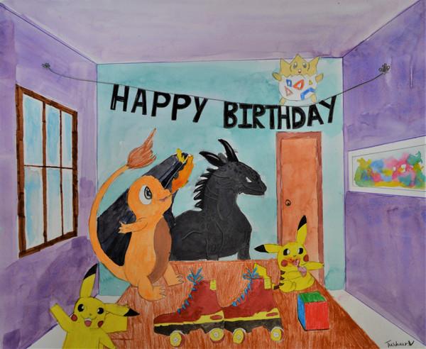 Tushaar Vijai Age_ 10  My Birthday Party
