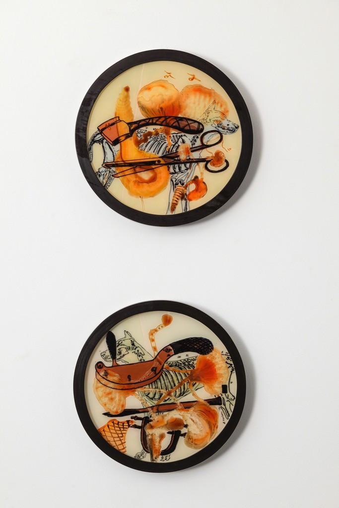Nalini Malani - Medea (Scissors) & Medea (Knife)