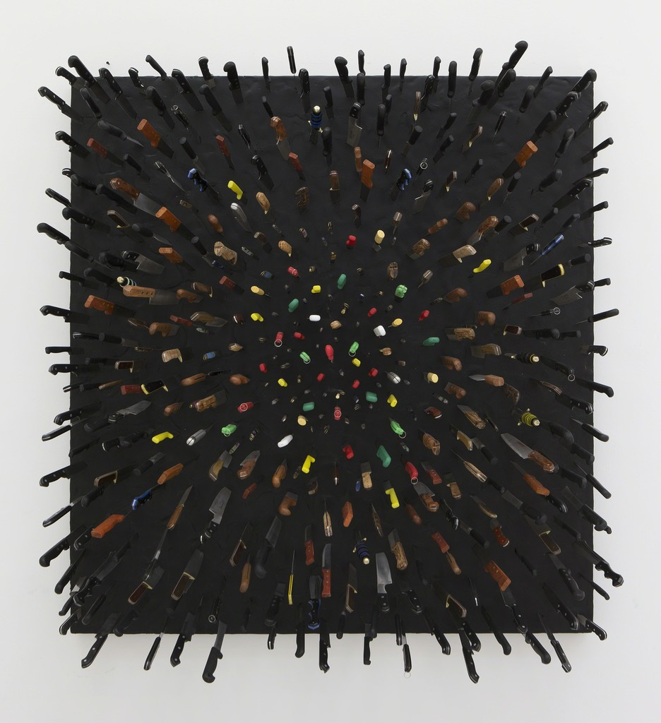Farhad Moshiri - Colored Knives on Black