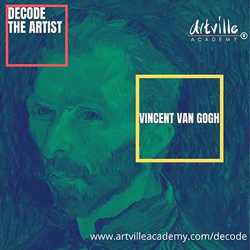 Vincent Van Gogh l Saturday 2pm l Sunday 11am