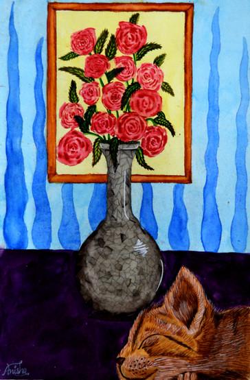 Anisha Satapathy Age_ 11  Flower Vase Si