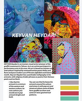 Artist research on Keyvan Heydari