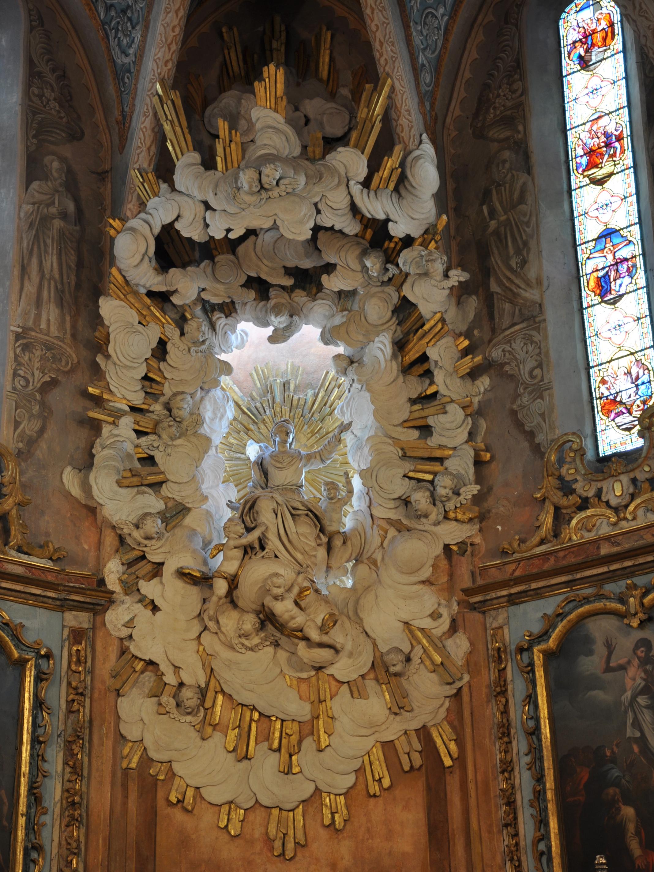 Fanjeaux : église chœur gypse