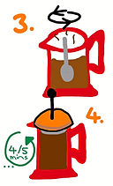 french press ground coffee by cafe roots UK