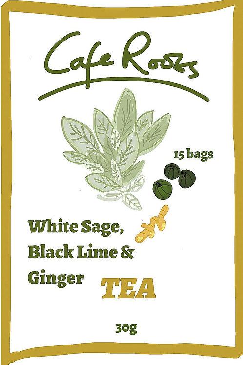 White Sage Tea with Black Lime & Ginger