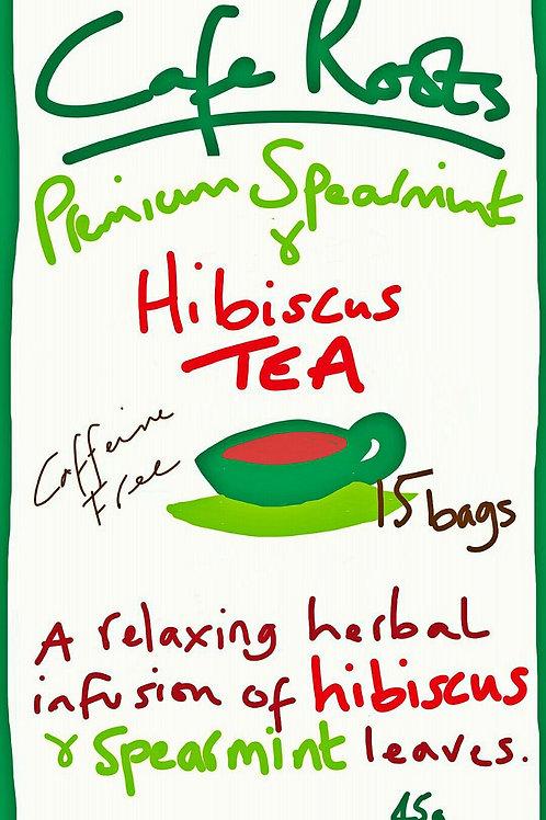 Hibiscus tea with spearmint