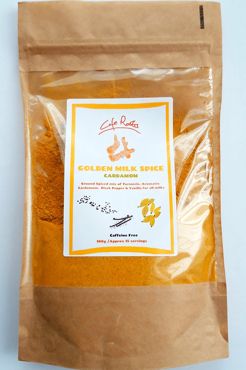 GOLDEN MILK SPICE - Organic Turmeric & Cardamom 100g