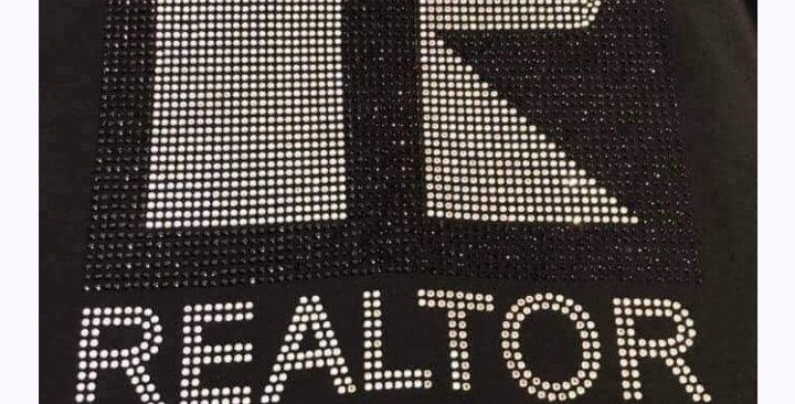 Realtor Black Rhinestone Shirt