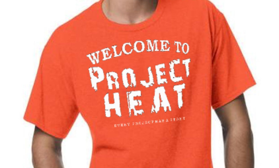 Orange Project Heat Logo Tee