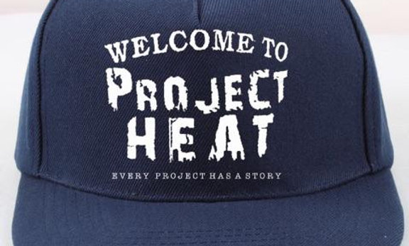 Navy Blue Project Heat Snapback