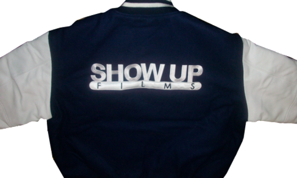 Show Up Films Blue Varsity Jacket