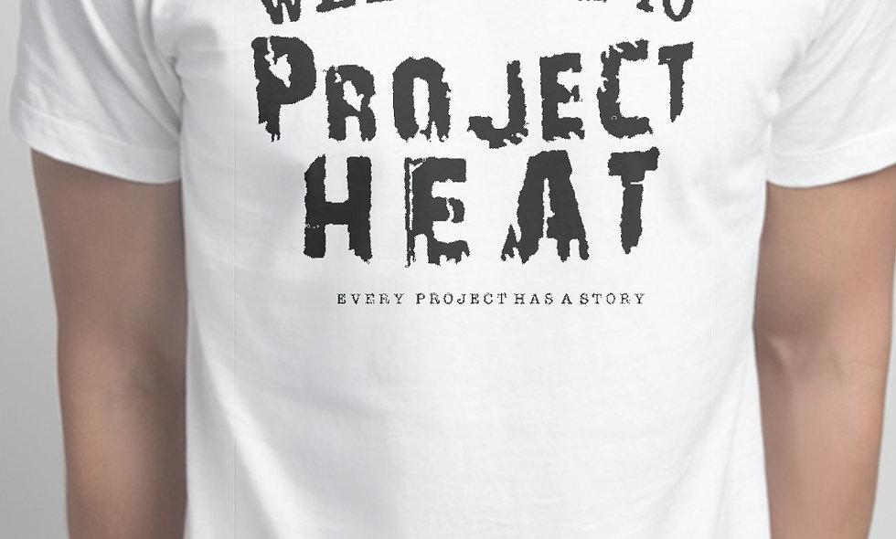 White & Black Project Heat Logo Tee