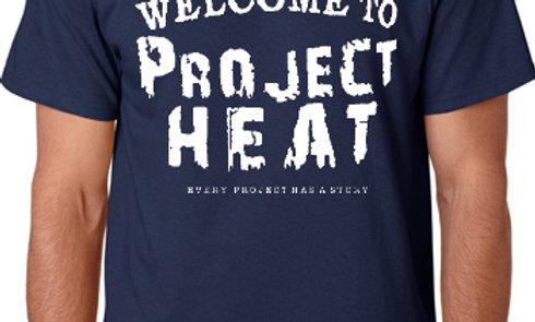 Navy Project Heat Logo Tee