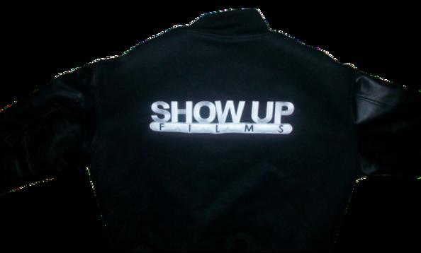 Show Up Films Black Varsity Jacket