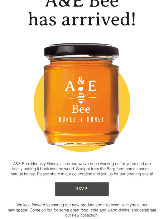 A&E Bee Email Layout