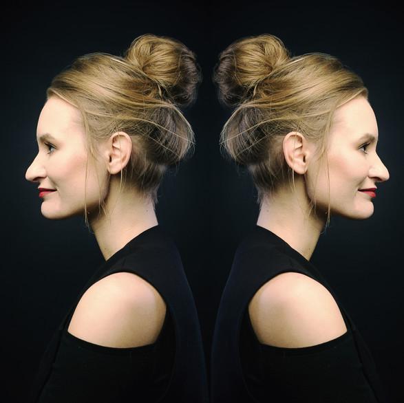 Designer herself